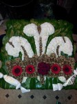 three feather floral tribute