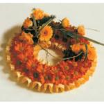 Gold based wreath